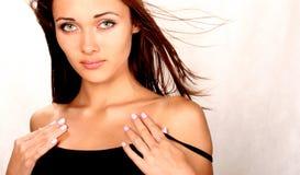 La ragazza con i grandi occhi Fotografia Stock