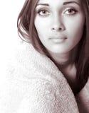 La ragazza con i grandi occhi Immagine Stock