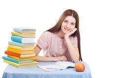 La ragazza con i libri Immagine Stock Libera da Diritti