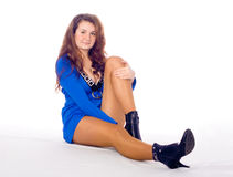 La ragazza con i piedini lunghi Immagini Stock Libere da Diritti