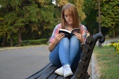 La ragazza con il libro Immagini Stock