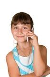 La ragazza con il telefono mobile fotografia stock libera da diritti