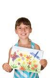 La ragazza con l'illustrazione fotografia stock