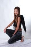 La ragazza con le ali di un angelo Fotografia Stock Libera da Diritti
