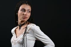 La ragazza con le trecce Immagini Stock Libere da Diritti