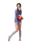 La ragazza con un regalo immagine stock libera da diritti