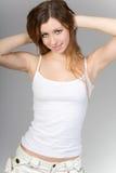 La ragazza dai capelli lunghi Fotografia Stock Libera da Diritti