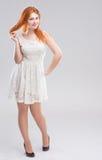 La ragazza dai capelli rossi Fotografie Stock