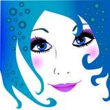 La ragazza del mare illustrazione vettoriale