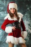 La ragazza del nuovo anno Fotografia Stock