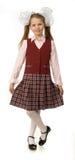 La ragazza della ciliegia in un uniforme scolastico Immagini Stock Libere da Diritti