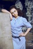 La ragazza di Afro con l'Egiziano compone Immagine Stock Libera da Diritti
