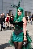 La ragazza di Cyber a Fluttua-Gotik-Treffen immagine stock