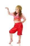 La ragazza di dancing Fotografie Stock