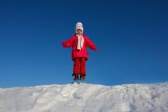 La ragazza di salto Fotografia Stock