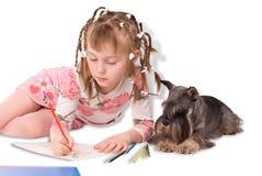 La ragazza ed il cane Immagini Stock Libere da Diritti