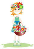 La ragazza in estate illustrazione di stock