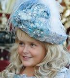 La ragazza finge essere principessa Fotografia Stock