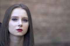 La ragazza-frik Fotografie Stock Libere da Diritti
