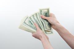 La ragazza ha detto disponibile 10000 dollari Immagine Stock Libera da Diritti