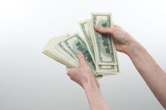 La ragazza ha detto disponibile 10000 dollari Immagini Stock Libere da Diritti