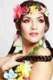 La ragazza hawaiana compone Immagini Stock