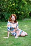 La ragazza nel giardino Immagine Stock Libera da Diritti
