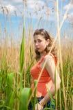 La ragazza nel giro della natura Fotografia Stock Libera da Diritti
