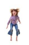 La ragazza nel salto Immagini Stock
