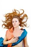 La ragazza nel vestito orientale stilizzato Fotografia Stock