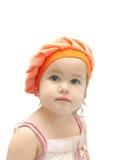 La ragazza nell'introito arancione Immagini Stock Libere da Diritti