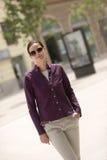 La ragazza nella città Fotografia Stock Libera da Diritti