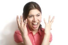 La ragazza nella rabbia. Fotografie Stock Libere da Diritti