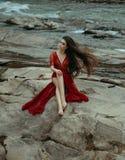 La ragazza nello stile di boho Fotografie Stock Libere da Diritti