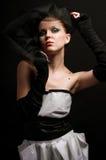 La ragazza nello stile di un retro Immagine Stock