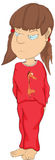 La ragazza in pigiami. Fumetto Fotografia Stock Libera da Diritti