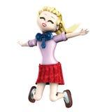 La ragazza salta Immagini Stock