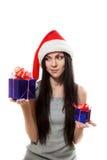 La ragazza sceglie il regalo Immagine Stock Libera da Diritti