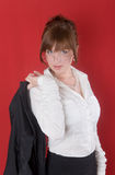 La ragazza sensuale Fotografie Stock