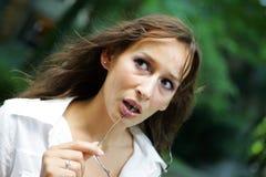 La ragazza si è sorpresa Fotografia Stock Libera da Diritti