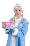 La ragazza si è vestita in costume russo di natale Immagine Stock Libera da Diritti