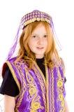La ragazza si è vestita in su in un vestito arabo fotografia stock libera da diritti