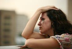 La ragazza sola Fotografia Stock Libera da Diritti