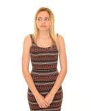 La ragazza teenager con lontano fissa Fotografia Stock Libera da Diritti
