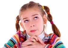 La ragazza teenager fa i fronti divertenti pazzeschi Immagini Stock Libere da Diritti