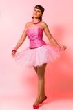 La ragazza in un balletto Immagine Stock Libera da Diritti