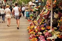 La Rambla,巴塞罗那 免版税库存图片