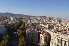 La Rambla à Barcelone Photographie stock libre de droits
