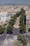 La Rambla Royalty Free Stock Photo