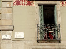 La Rambla architecture detail Stock Images
